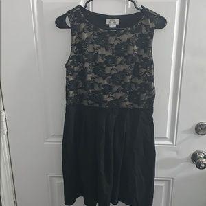 Black Flower Design Dress